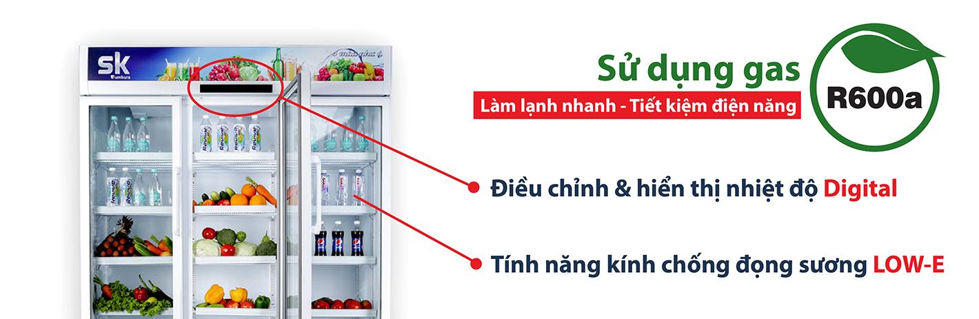 thiết kế tủ mát sumikura hiện đại, tiện ích