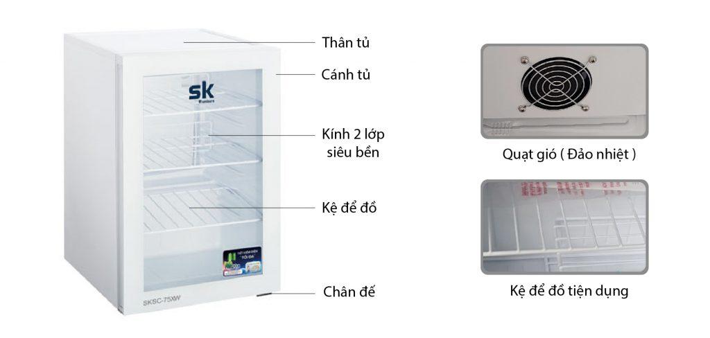 Tủ mát Sumikura SKSC-75XW